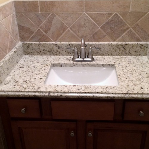 Bathroom Sink Tile Work